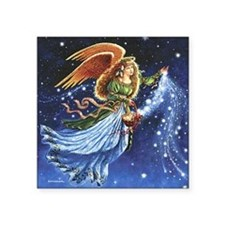 "Angel Star Basket_Tile Square Sticker 3"" x 3"""