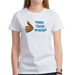 Thumb Wrestle Women's T-Shirt