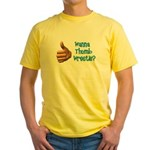 Thumb Wrestle Yellow T-Shirt