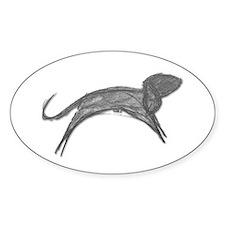 Gray v Running Dog Oval Decal