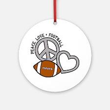 silver black Love, Football Round Ornament