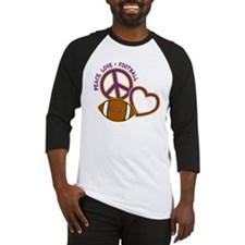 purple yellow, Peace, Love, Footba Baseball Jersey