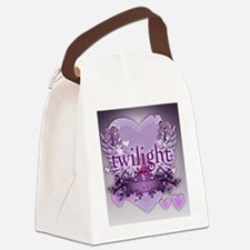 twilight forever purple large pos Canvas Lunch Bag