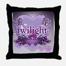 twilight forever purple large poster  Throw Pillow