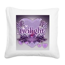 twilight forever purple large Square Canvas Pillow