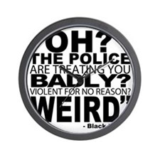 POLICE-WEIRD2 Wall Clock