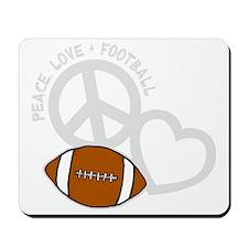 silver, Peace, Love, Football Mousepad