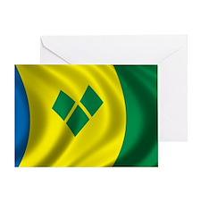 stvincent_flag Greeting Card