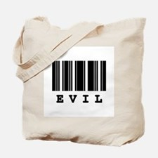 Evil Barcode Design Tote Bag