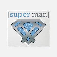 Objective-C Super Man | Apple Geek Throw Blanket