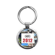 2012-cover Round Keychain
