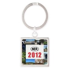 2012-cover Square Keychain