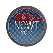 button_newt_01 Wall Clock