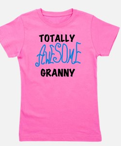 AWESOMEGRANNYBLUEBL Girl's Tee