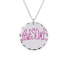 AWESOMEGRANNYPINKWH Necklace Circle Charm