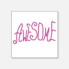 """AWESOMEGRANNYPINKWH Square Sticker 3"""" x 3"""""""