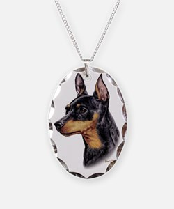 Min Pin Necklace Oval Charm