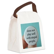 stupidpeople Canvas Lunch Bag