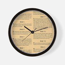 billofrights Wall Clock