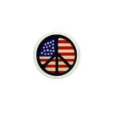 americanflagpeace Mini Button