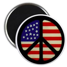 americanflagpeace Magnet