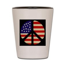 americanflagpeace_01 Shot Glass