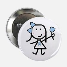 "Girl & Lt Blue Ribbon 2.25"" Button (100 pack)"