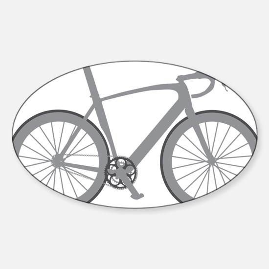BARB_gray Sticker (Oval)