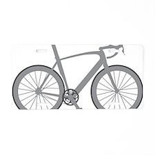 BARB_gray Aluminum License Plate