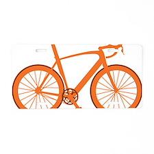 BARB_orange Aluminum License Plate