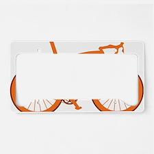 BARB_orange License Plate Holder