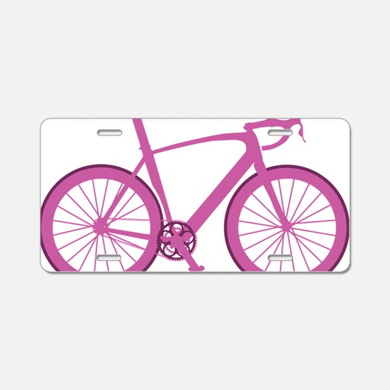BARB_pink Aluminum License Plate