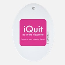 help QUIT smoking Oval Ornament
