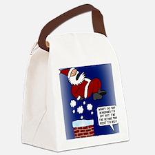 ChimneyFireCard Canvas Lunch Bag