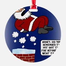 ChimneyFireCard Round Ornament