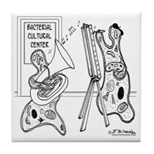 2792_bacteria_cartoon Tile Coaster