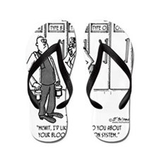 2058_blood_cartoon_SC Flip Flops
