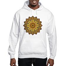 Yellow Brown Yoga Mandala Shirt Hoodie