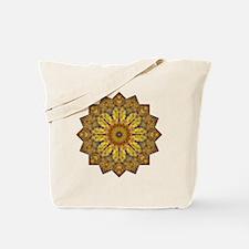 Yellow Brown Yoga Mandala Shirt Tote Bag