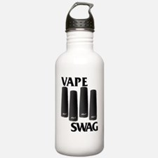 blackflagpaintbigger Water Bottle