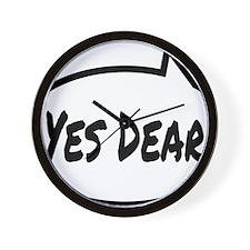 Yes Dear Shirt Wall Clock