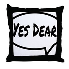 Yes Dear Hat Throw Pillow