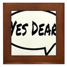 Yes Dear Hat Framed Tile