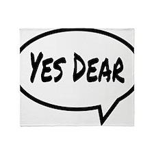 Yes Dear Hat Throw Blanket