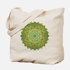 Green Gold Heart Chakra Mandala Yoga Shir Tote Bag