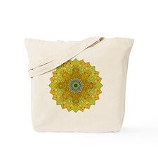 Green Yellow Mandala Yoga Shirt Tote Bag