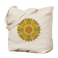 Green Gold Yoga Mandala Shirt Tote Bag