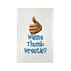 Thumb Wrestle Rectangle Magnet