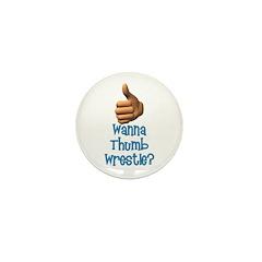 Thumb Wrestle Mini Button (100 pack)