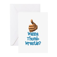 Thumb Wrestle Greeting Cards (Pk of 10)